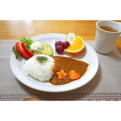白くて丸いランチプレート Lサイズ 25.5cm 手軽に使える 仕切り皿 取り皿 ホームパーティ ランチ 丸皿 洋食器 白い食器 カフェ食器 国産 美濃焼