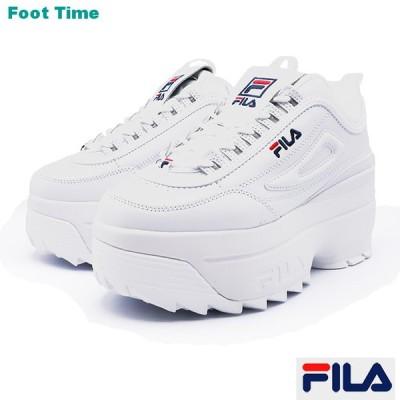 フィラ ディスラプター 2 ウエッジ ホワイト/ネイビー/レッド F0425-0125