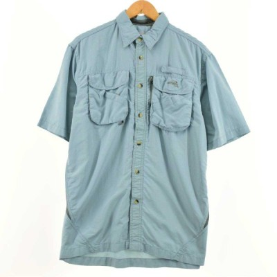 NATURAL 半袖 フィッシングシャツ メンズL /eaa053455