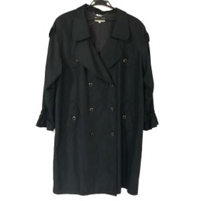 レリアン Leilian コート サイズ13 L レディース - 黒 長袖/肩パッド/春/秋【中古】20210313