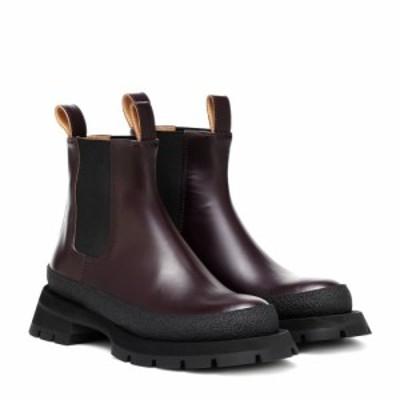 ジル サンダー Jil Sander レディース ブーツ ショートブーツ シューズ・靴 leather ankle boots Burgundy