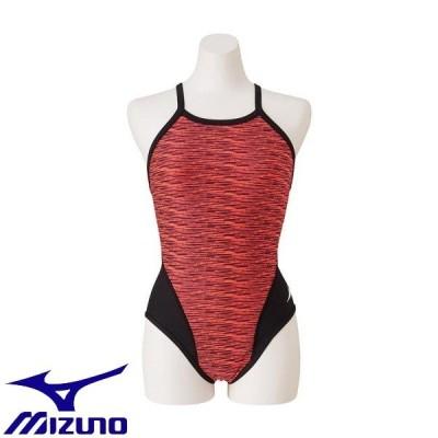 ◆◆送料無料 メール便発送 <ミズノ> MIZUNO 競泳練習用ミディアムカット[レディース] N2MA9775 (60:ファイアリーコーラル) フィットネス