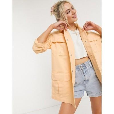 エイソス レディース コート アウター ASOS DESIGN soft cotton utility jacket in buttermilk Buttermilk