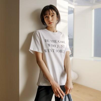[CHICHERA] ビーザガールレタリングTシャツ-384395 ★送料無料★