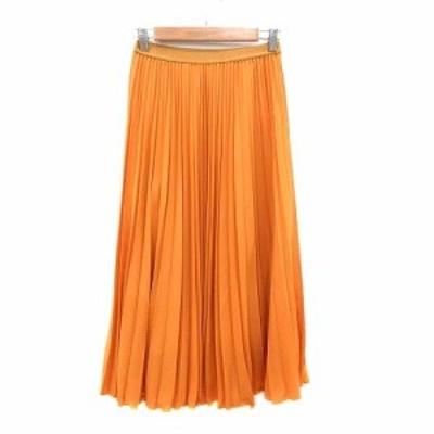 【中古】ストロベリーフィールズ STRAWBERRY-FIELDS ICHIE プリーツスカート ロング オレンジ /YK レディース
