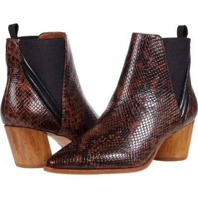 ベルナルド Bernardo レディース ブーツ シューズ・靴 Ferris Black Brown Embossed Snake/Antique Calf