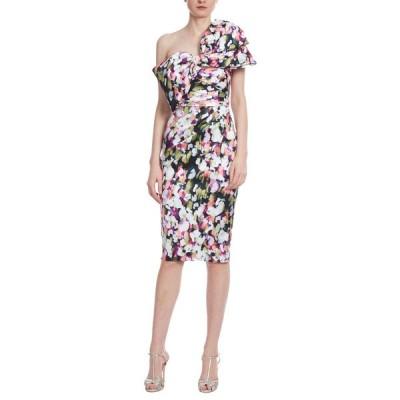 バッドグレイミッシカ レディース ワンピース トップス Bow Bustier Printed Sheath Dress