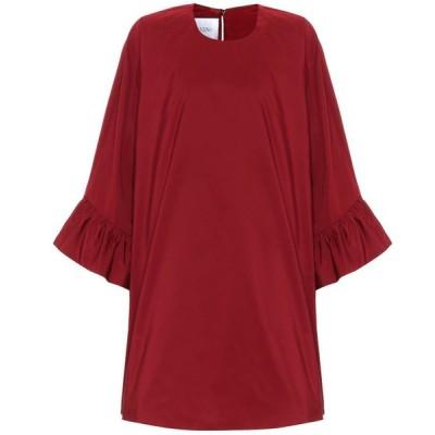 ヴァレンティノ Valentino レディース ワンピース ワンピース・ドレス cotton-blend minidress Red Persia