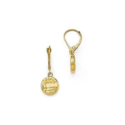 Finejewelers 14k ポリッシュ ブライト カット Leverback Earrings(海外取寄せ品)