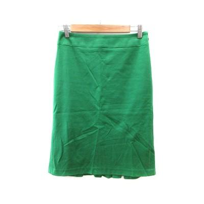 【中古】クローラ crolla タイトスカート ひざ丈 36 緑 グリーン /AU レディース 【ベクトル 古着】