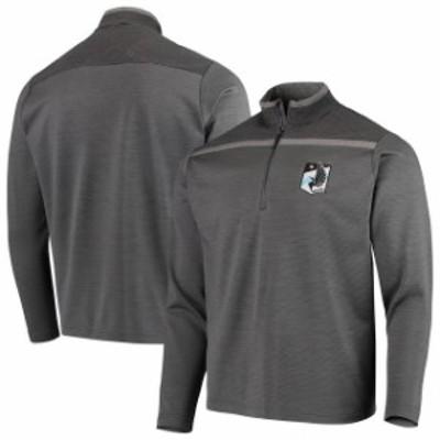 Antigua アンティグア スポーツ用品  Antigua Minnesota United FC Charcoal/Black Cryptic Quarter-Zip Pullover Jacket