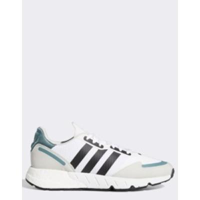 アディダス レディース スニーカー シューズ adidas Originals ZX 1K Boost sneakers in white White