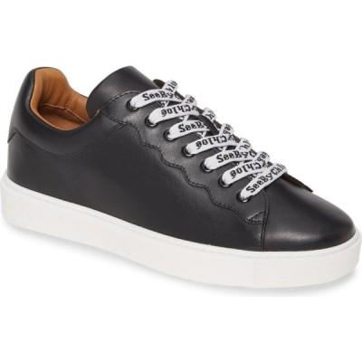 クロエ SEE BY CHLOE レディース スニーカー シューズ・靴 Logo Lace Sneaker Black