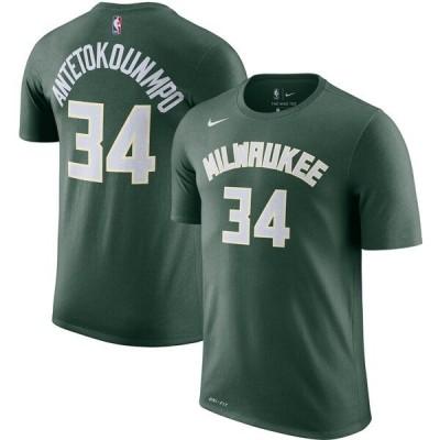 NBA ヤニス・アデトクンボ ミルウォーキー・バックス Tシャツ ネーム & ナンバー ナイキ/Nike グリーン