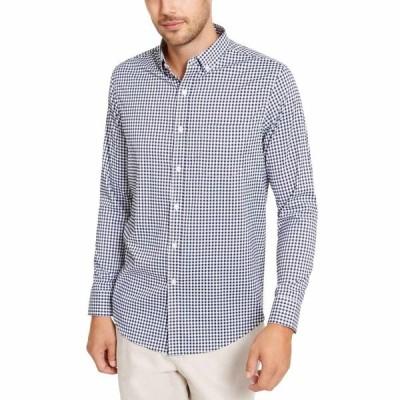 クラブルーム Club Room メンズ シャツ トップス Regular-Fit Stretch Gingham Check Shirt Bright White Combo