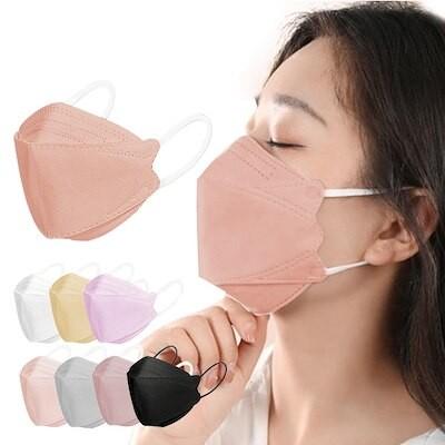 KF94 マスク 血色マスク 20枚入り マスク 4層構造 フィルター 花粉対策 4D立体 マスク
