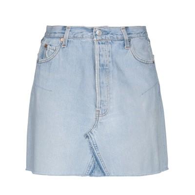 RE/DONE with LEVI'S デニムスカート ブルー 25 コットン 100% デニムスカート