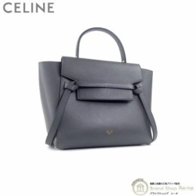 新品同様 セリーヌ(CELINE) マイクロ ベルトバッグ 2way ハンド ショルダー バッグ 18915 グレー 中古