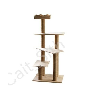 BINZHI Cat Tree and Tower,Large Multi-Level Cat Tree with Hemp Rope-Covered Scratching Posts, Cat Toy Supplies Cat Tree and Apartment (Size