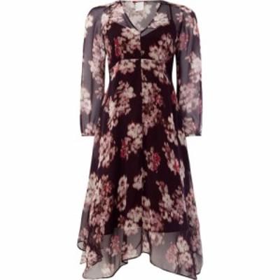 マックスマーラ Max Mara Studio レディース ワンピース Vネック ワンピース・ドレス V Neck Printed Dress Purple