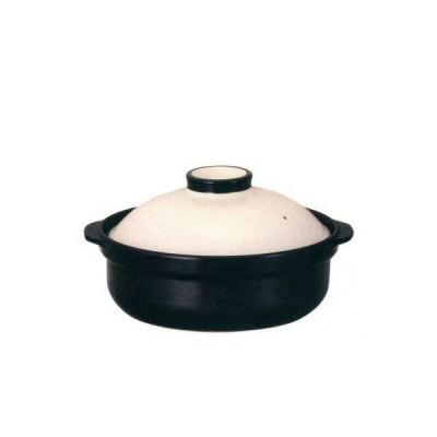 IH対応 土鍋 宴(ホワイト/ブラック)9号 直火OK 4〜5人用サイズ土鍋
