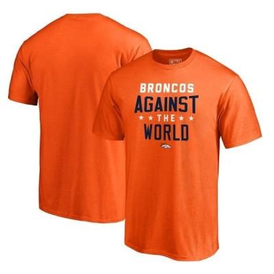 ファナティクス ブランデッド メンズ Tシャツ トップス Denver Broncos NFL Pro Line by Fanatics Branded Against The World T-Shirt