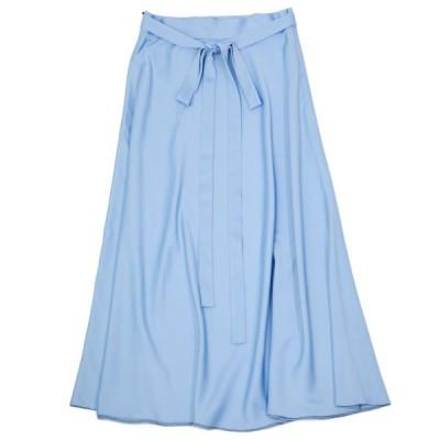 【size36,38】Borelio【ボレリオ】フレアロングスカート EMA  341 20 ポリエステル ブルー