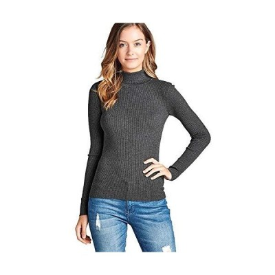 Mirabell Women's Lightweight Turtleneck Long Sleeve Sweater Knit Top (Large