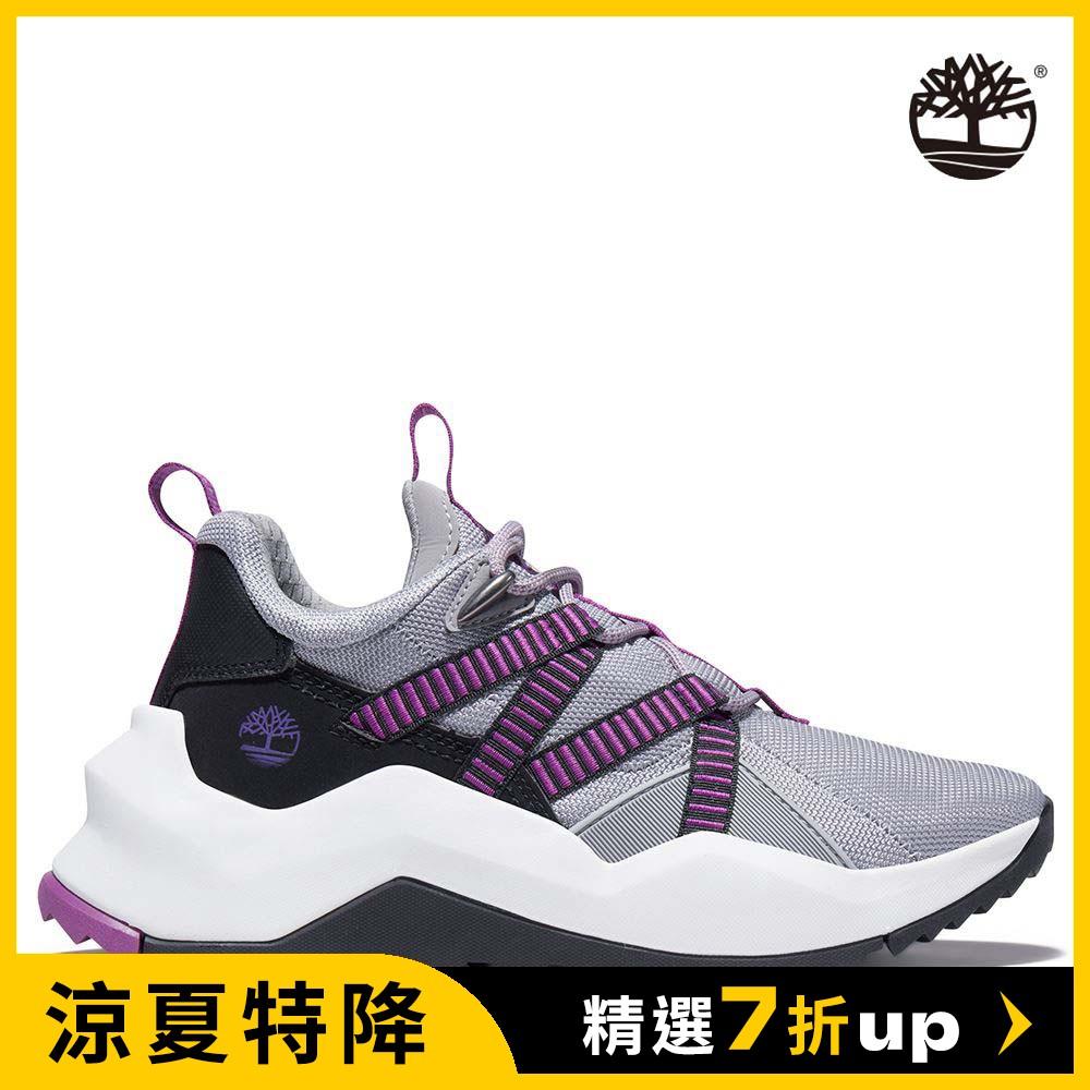 Timberland 女款中階灰紫Madbury網眼帆布休閒鞋|A2HVC050