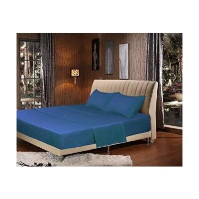 Tache 3???4?Pieceカラフル、Bedsheet set-inネイビーオーシャンブルー ツイン ブルー