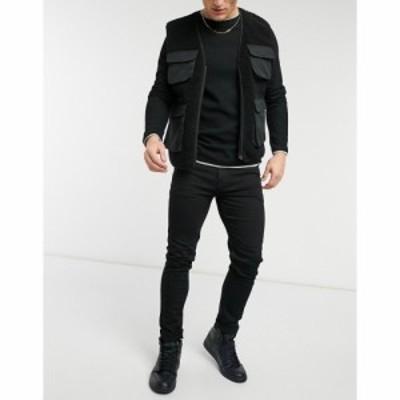 エイソス ASOS DESIGN メンズ ジーンズ・デニム ボトムス・パンツ no fade black skinny jeans ブラック