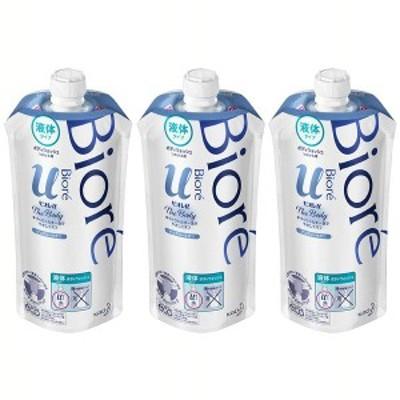 (3個セット)ビオレu ザボディ 液体タイプ ピュアリーサボン つめかえ用 340ml 花王株式会社 ボディウォッシュ ボディソープ ボディシャン