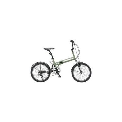 ハマー HUMMER 折畳 自転車 HUMMER-FDB206-MGR マットグリーン