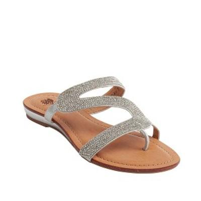 ジーシーシューズ レディース サンダル シューズ Nylah Flat Sandal Silver