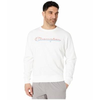チャンピオン メンズ パーカー・スウェットシャツ アウター Powerblend Graphic Crew White