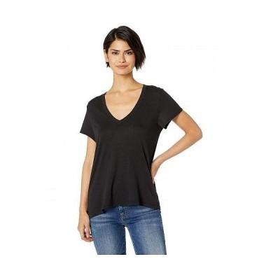 Splendid スプレンデッド レディース 女性用 ファッション Tシャツ Kate Short Sleeve Modal Jersey V-Neck Tee - Black
