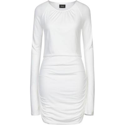 リュー ジョー LIU •JO ミニワンピース&ドレス ホワイト 42 レーヨン 100% / ナイロン ミニワンピース&ドレス