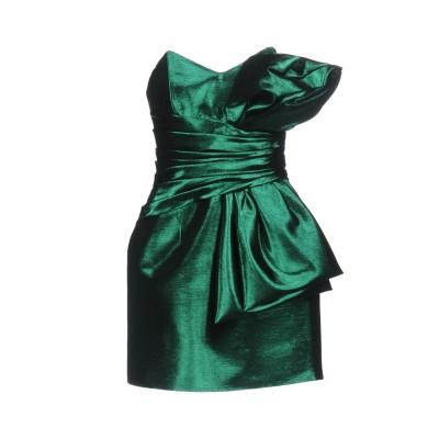 SAINT LAURENT ミニワンピース&ドレス グリーン 34 コットン 49% / アセテート 39% / ポリエステル 12% / 金属繊維