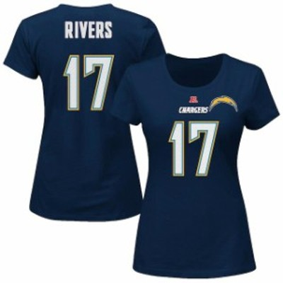 Majestic マジェスティック スポーツ用品  Majestic Philip Rivers Los Angeles Chargers Womens Plus Size Navy Fair Cat