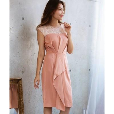 ドレス ラッフルフリルタイトドレス(オケージョン)