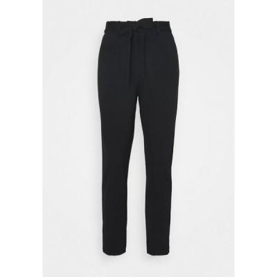ピーシーズ プティ カジュアルパンツ レディース ボトムス PCBEATE TIE PANTS - Trousers - black