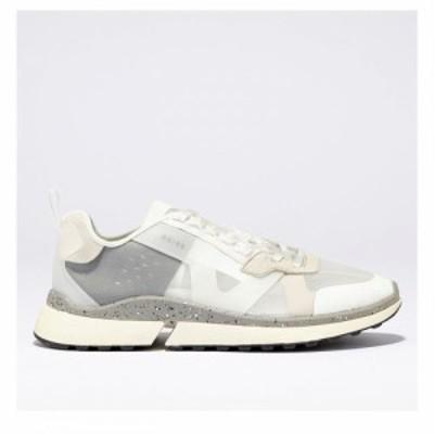 リース Reiss メンズ シューズ・靴 Ethn Msh Lw Tp Sn99 White