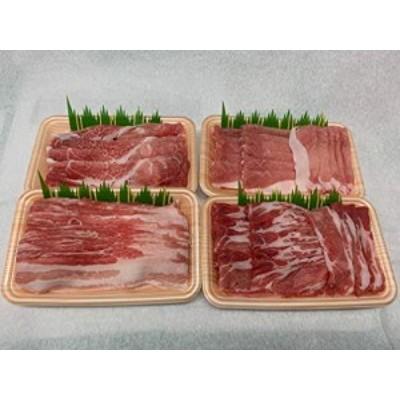 送料無料 豚肉 焼肉 しゃぶしゃぶ 長崎ブランド豚 諫美豚 かんびとん 食べ比べ セット 1kg (冷凍) 便利な小分けセット かんびとん (焼肉
