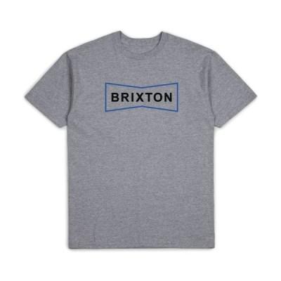 ブリクストン 半袖 Tシャツ ヘザーグレー メンズ レディース スケート サーフ BRIXTON WEDGE II S/S STT HEATHER GREY