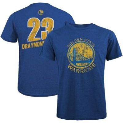 マジェスティック メンズ Tシャツ トップス Draymond Green Golden State Warriors Majestic Threads Name & Number Tri-Blend T-Shirt R