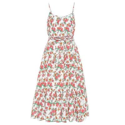 ロードリゾート RHODE レディース ワンピース ミドル丈 ワンピース・ドレス lea floral cotton midi dress White Daz/zle