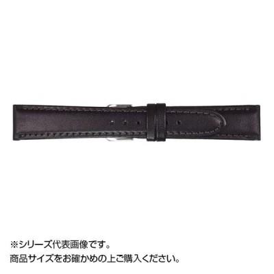 MIMOSA(ミモザ) 時計バンド EMカーフ 17mm ブラック (美錠:銀) CEM-A17 バンド