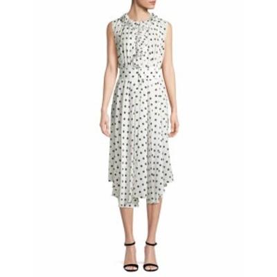 バレンシアガ レディース ワンピース Silk Polka-Dot Midi Dress