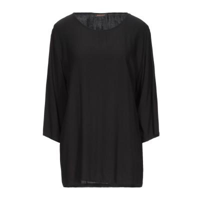 ZEUSEDERA ブラウス ブラック XL レーヨン 100% ブラウス