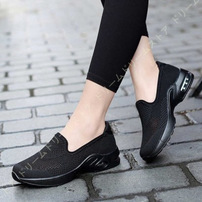 スリッポン スニーカー ニットシューズ メッシュ ウォーキングシューズ 大きいサイズ レディース ランニング カジュアル 柔らかい 履きやすい 運動靴 軽量